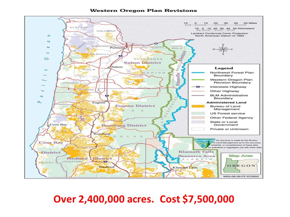 Over 2,400,000 acres. Cost $7,500,000