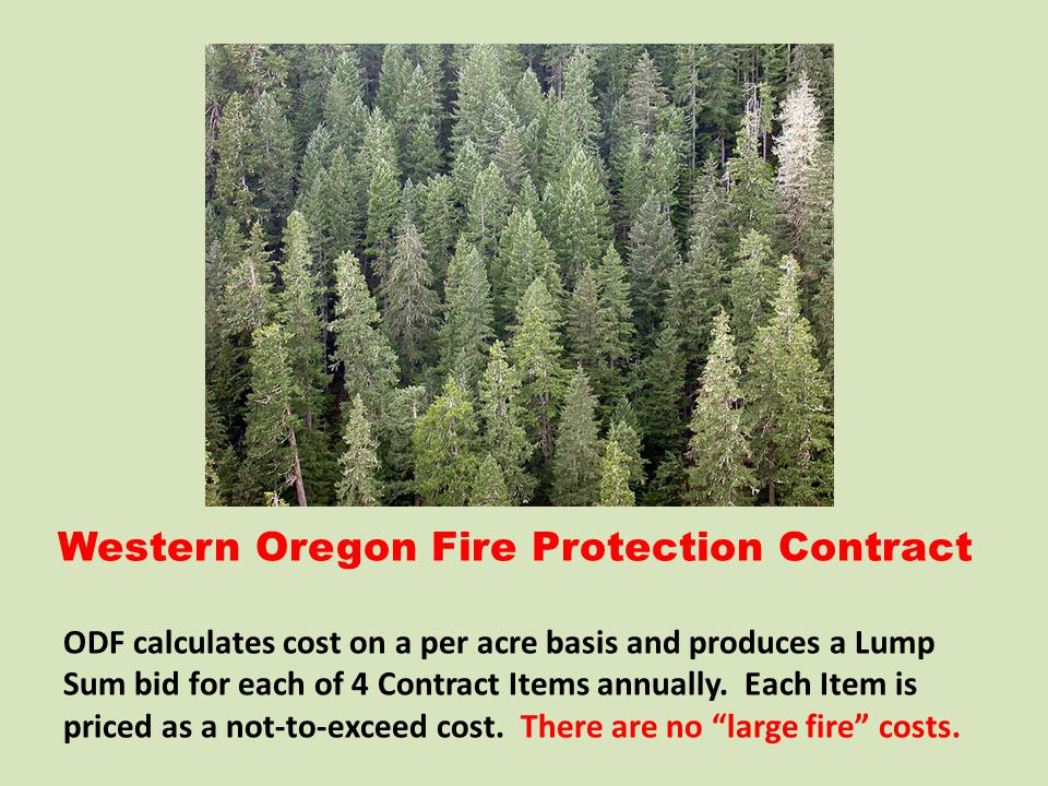 Western Oregon Fire Protection Contract