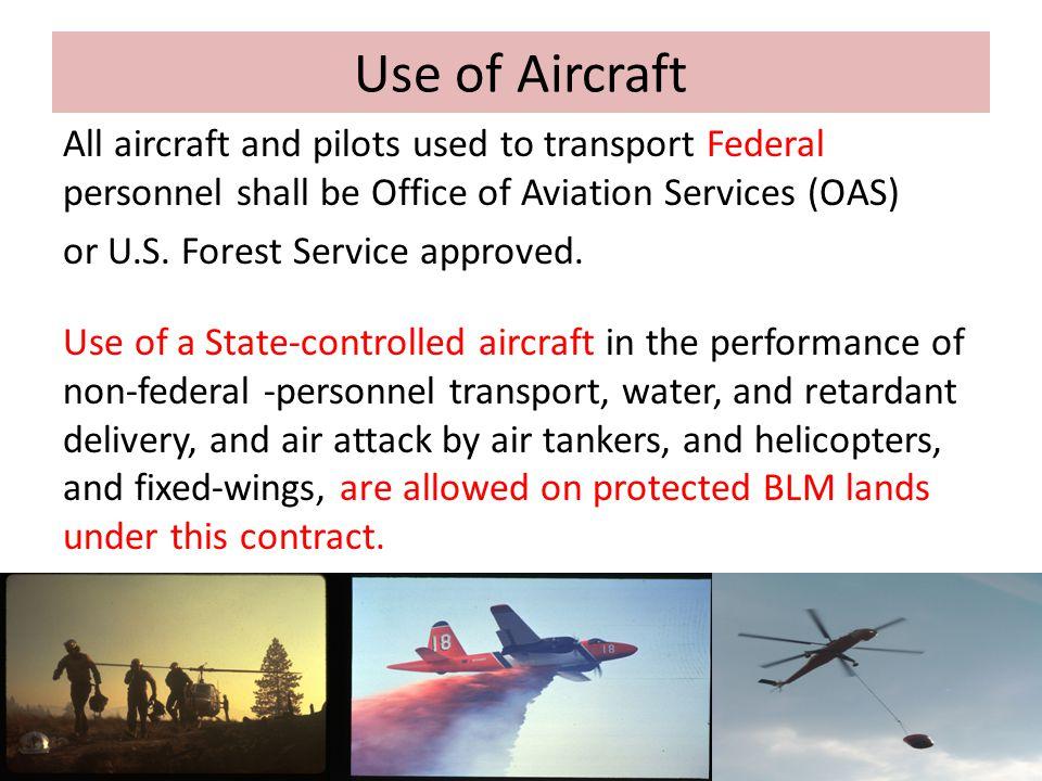 Use of Aircraft
