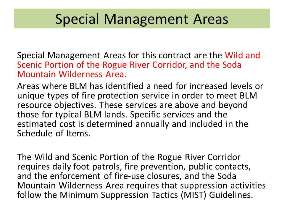Special Management Areas