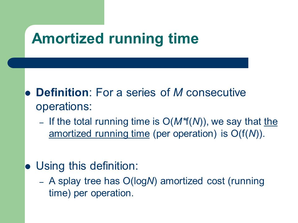 Amortized running time