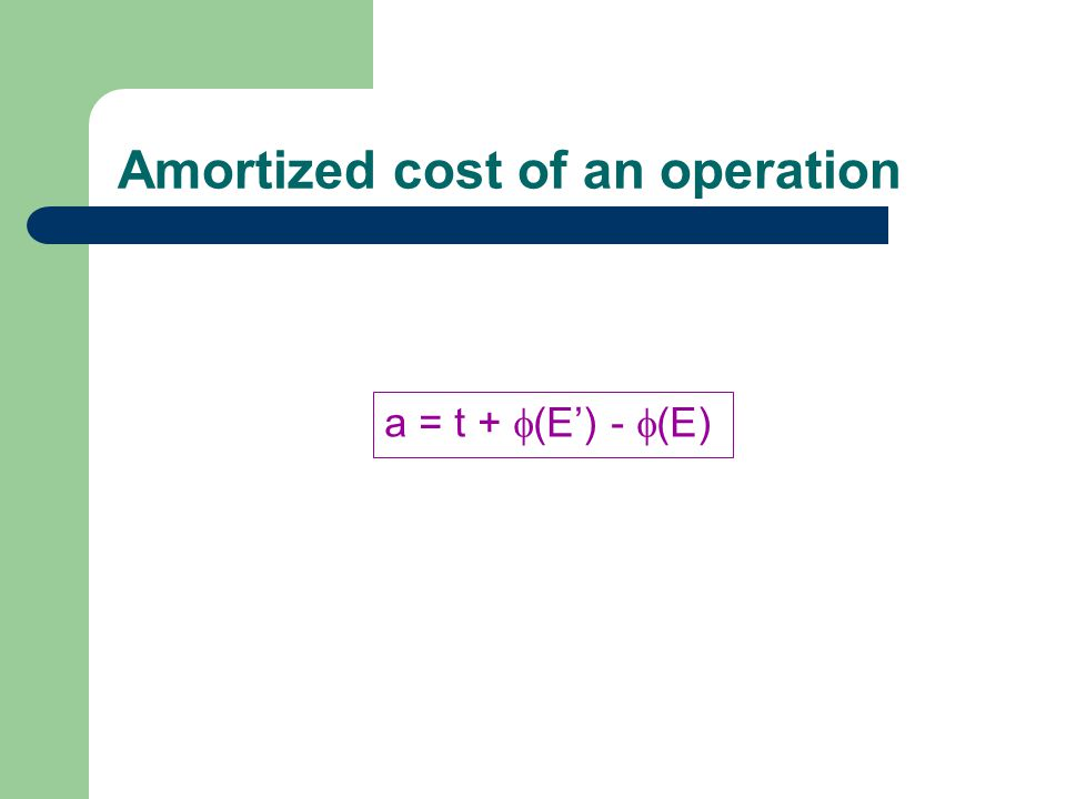 Amortized cost of an operation