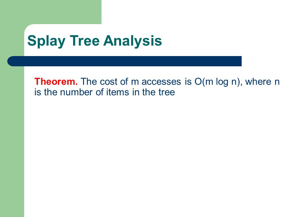 Splay Tree Analysis Theorem.