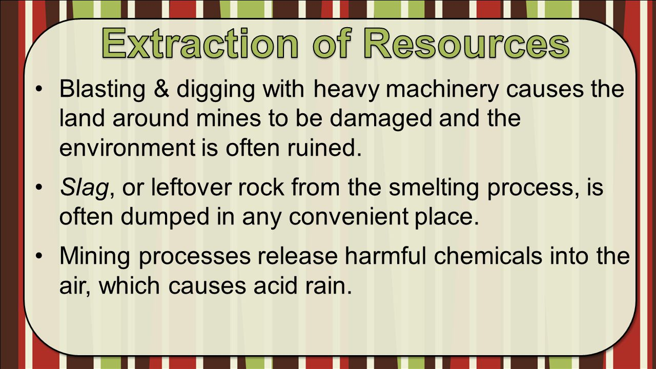 Extraction of Resources