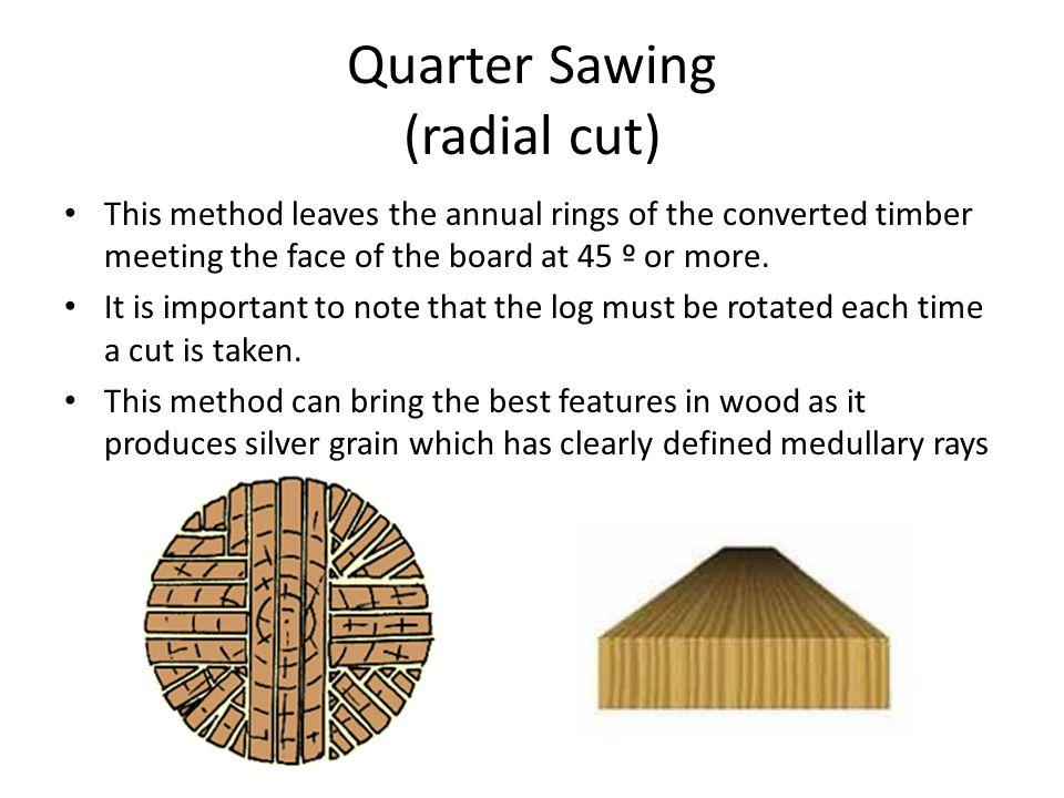 Quarter Sawing (radial cut)