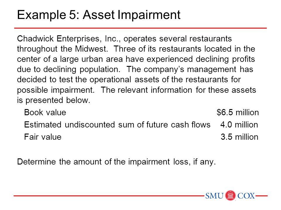 Example 5: Asset Impairment