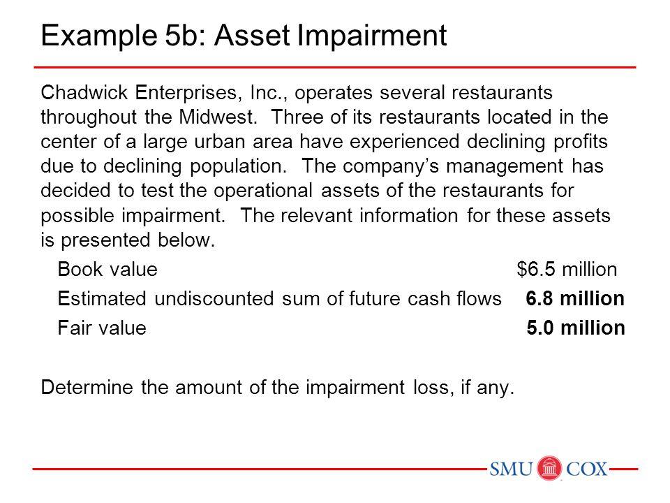 Example 5b: Asset Impairment