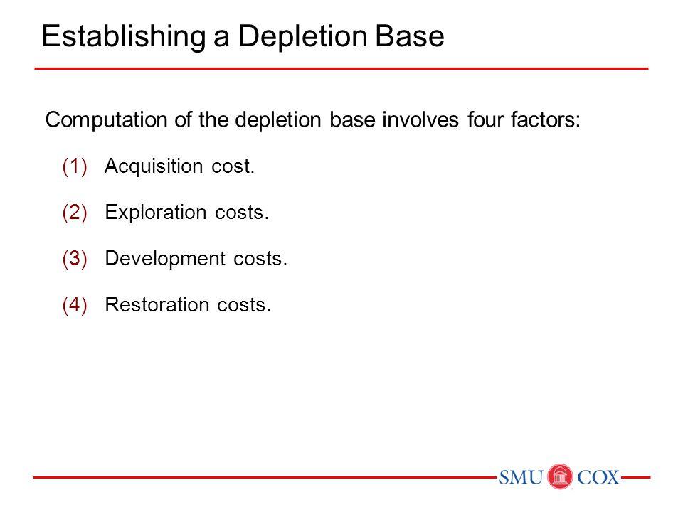 Establishing a Depletion Base