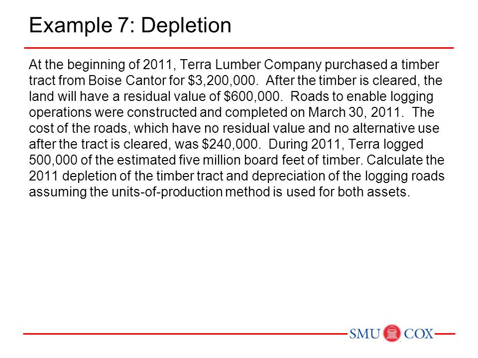 Example 7: Depletion