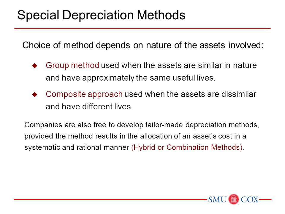 Special Depreciation Methods