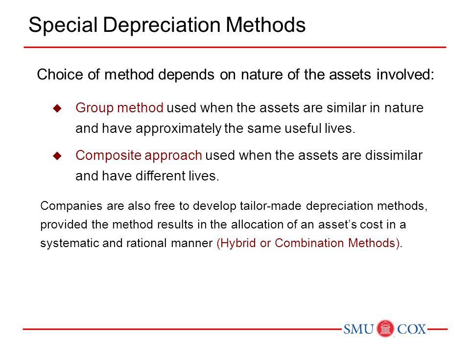 Special Depreciation Methods