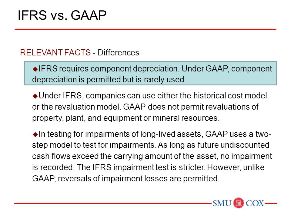 IFRS vs. GAAP RELEVANT FACTS - Differences