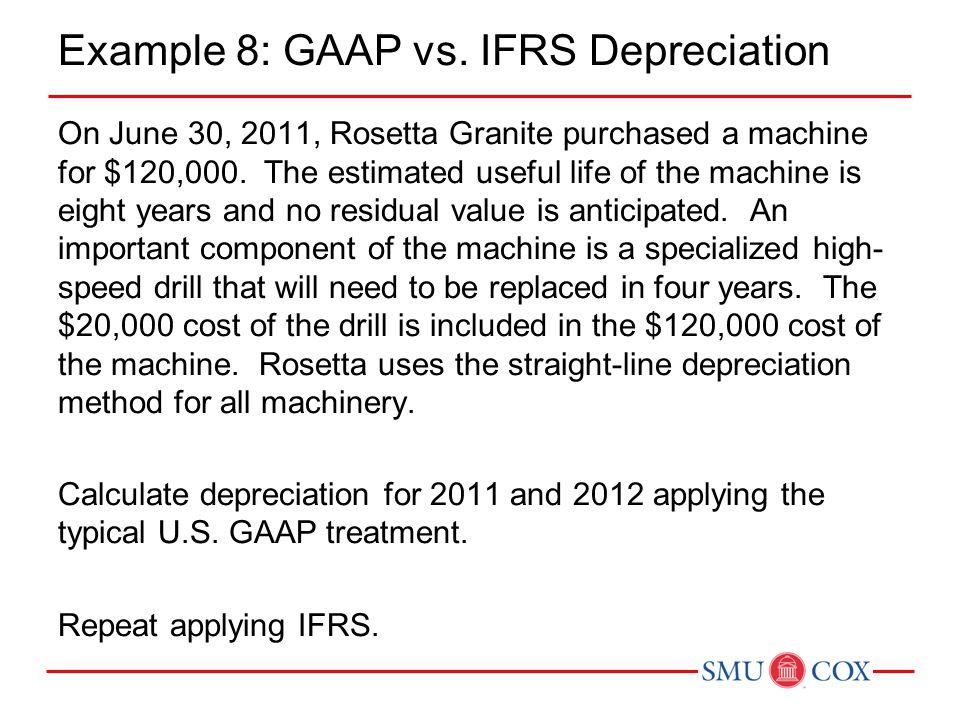 Example 8: GAAP vs. IFRS Depreciation