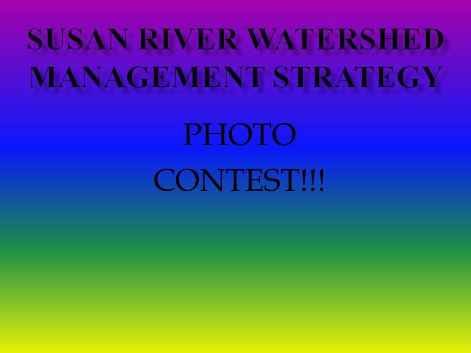 Susan River watershed Management strategy