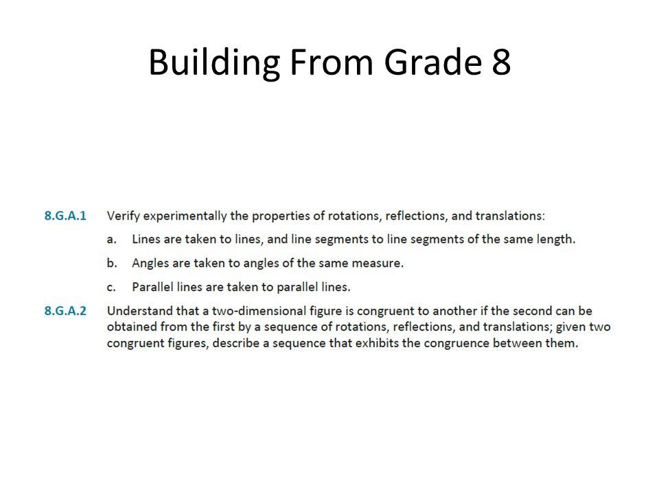 Building From Grade 8
