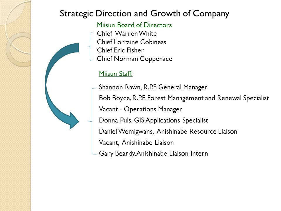 Strategic Direction and Growth of Company