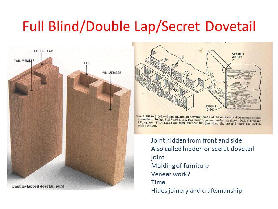 Full Blind/Double Lap/Secret Dovetail
