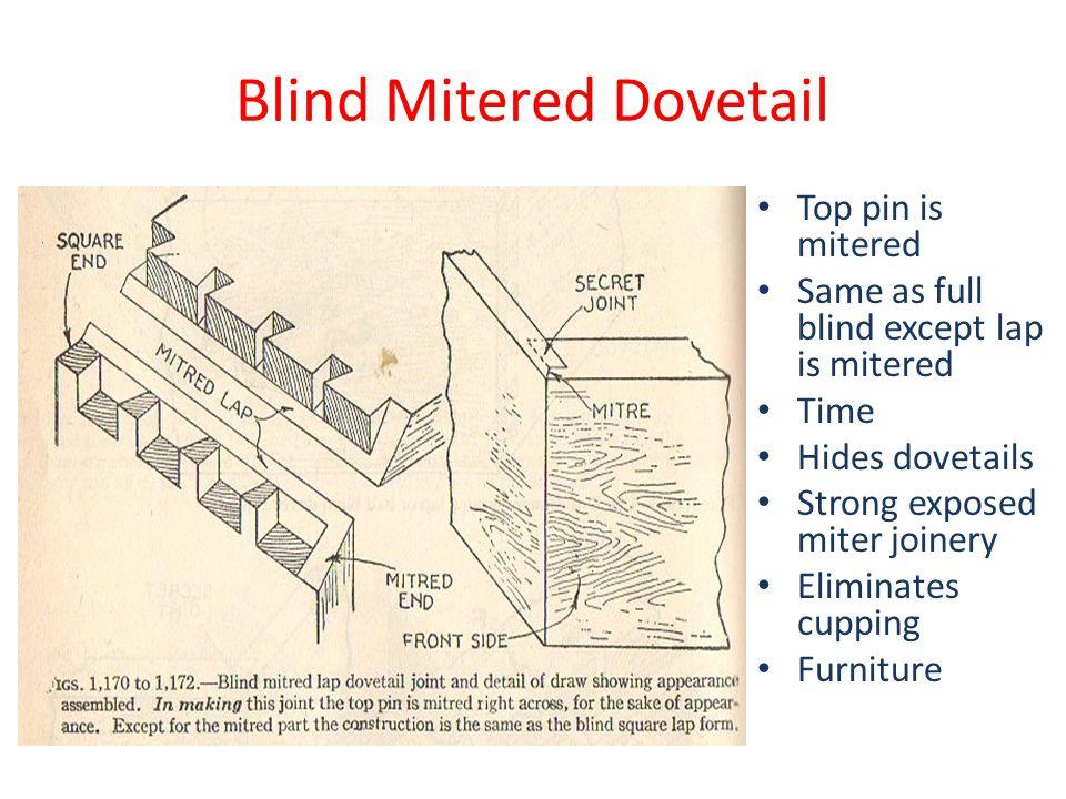 Blind Mitered Dovetail