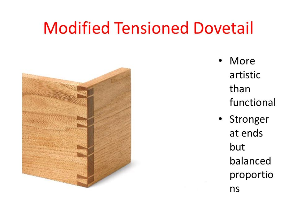 Modified Tensioned Dovetail