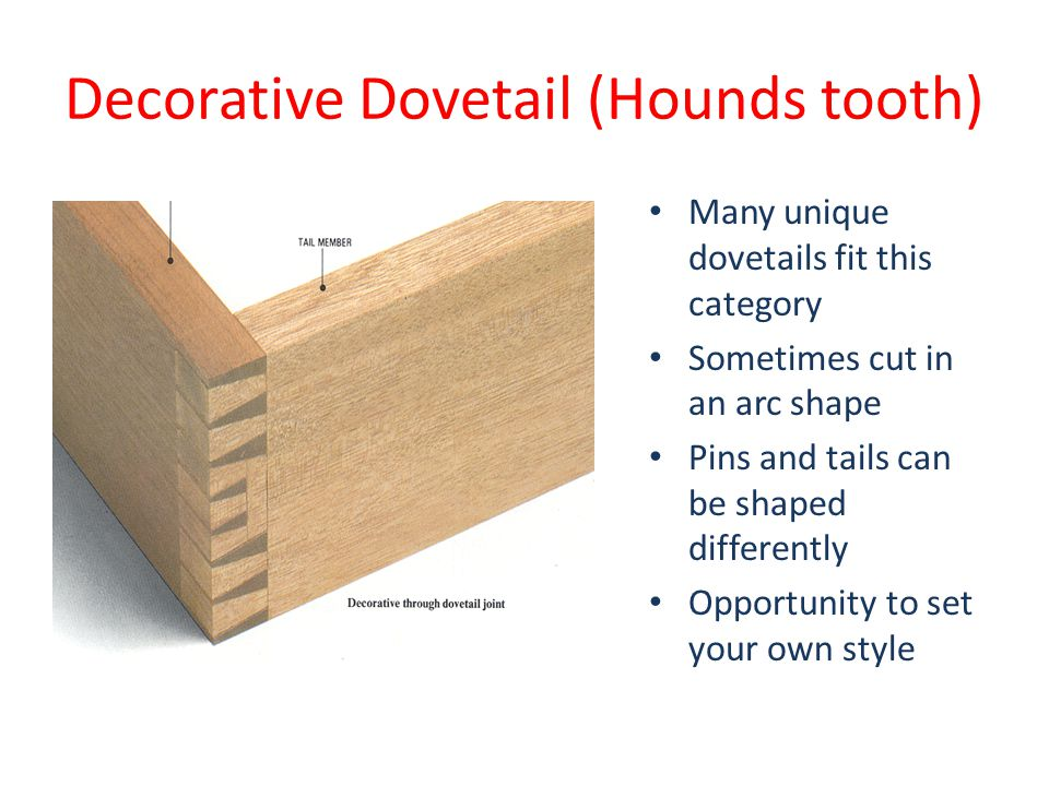 Decorative Dovetail (Hounds tooth)