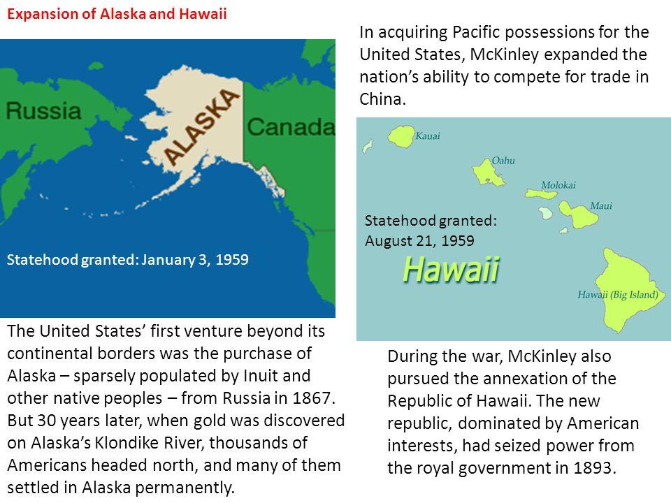 Expansion of Alaska and Hawaii