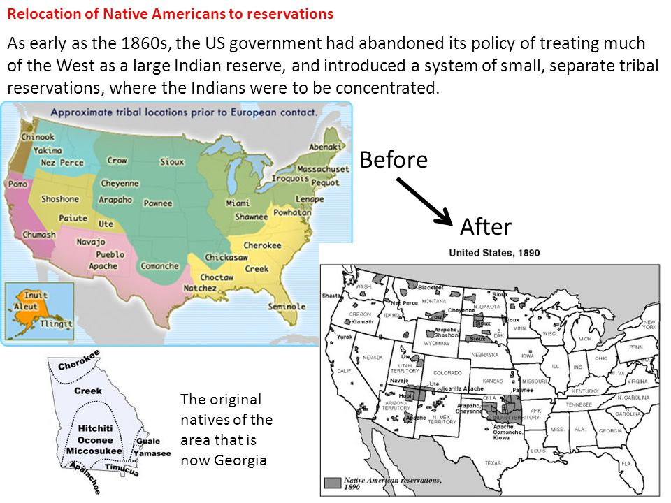 Relocation of Native Americans to reservations