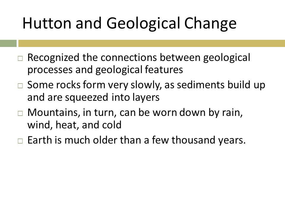 Hutton and Geological Change