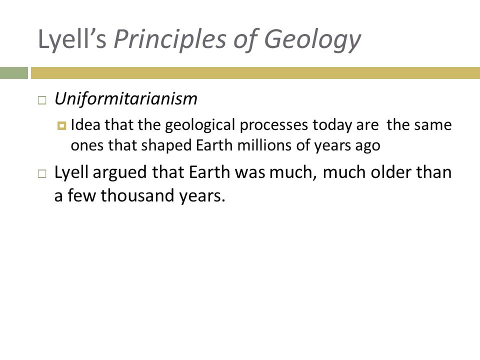 Lyell's Principles of Geology