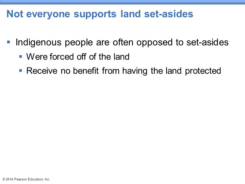 Not everyone supports land set-asides