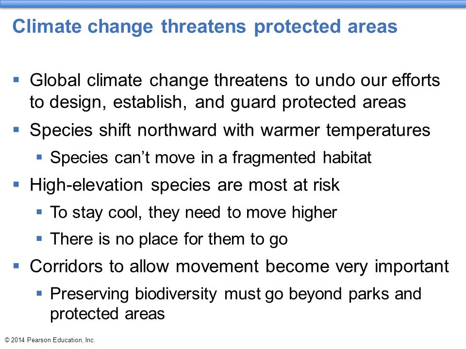 Climate change threatens protected areas