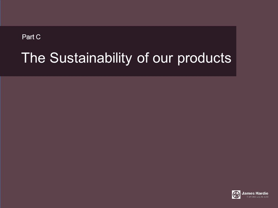 The Sustainability of our products