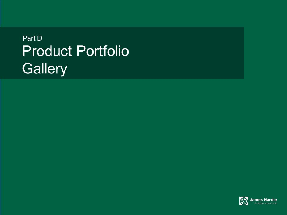 Part D Product Portfolio Gallery