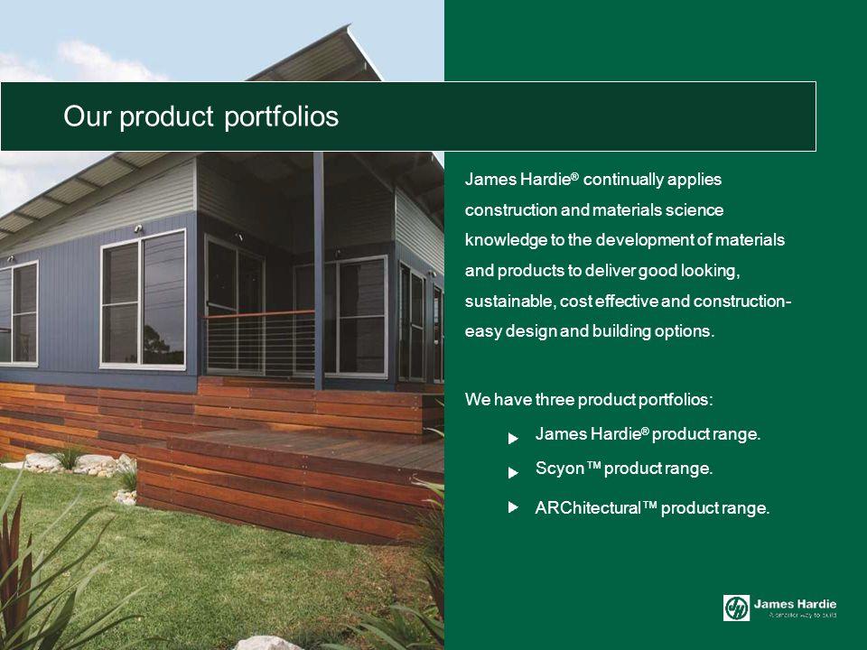 Our product portfolios