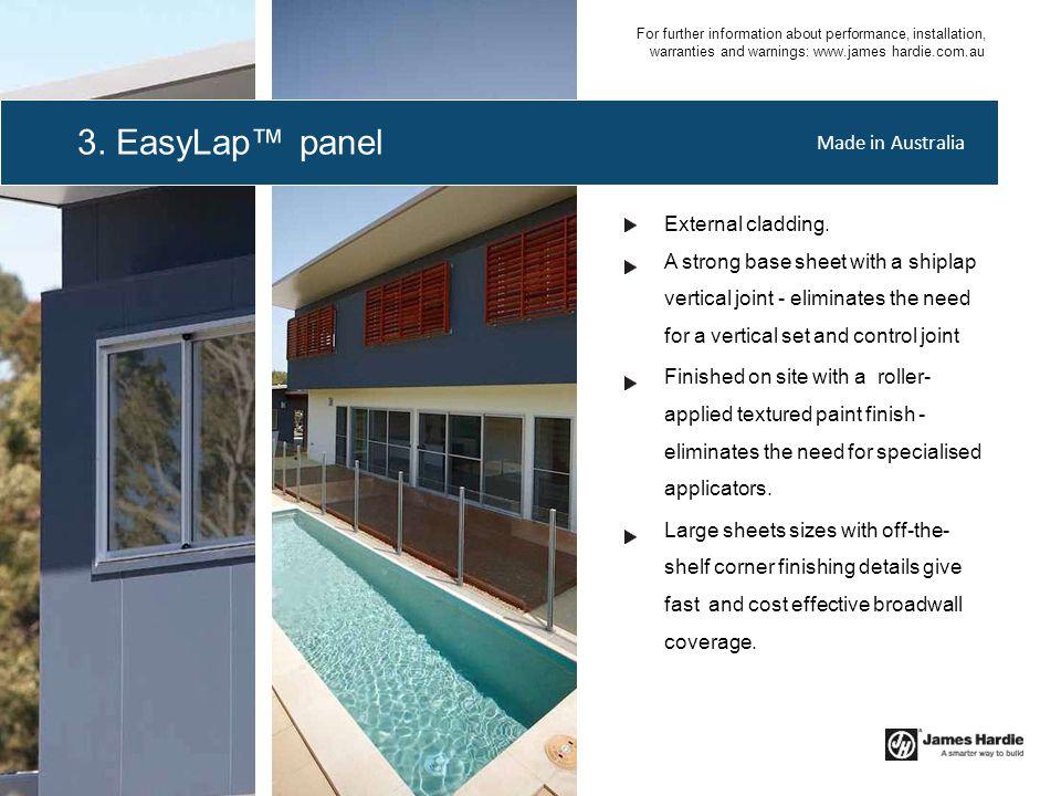 3. EasyLap™ panel Made in Australia External cladding.