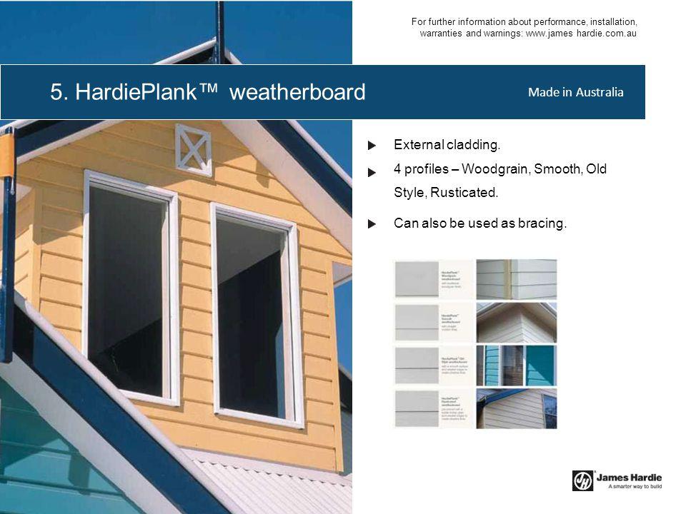 5. HardiePlank™ weatherboard