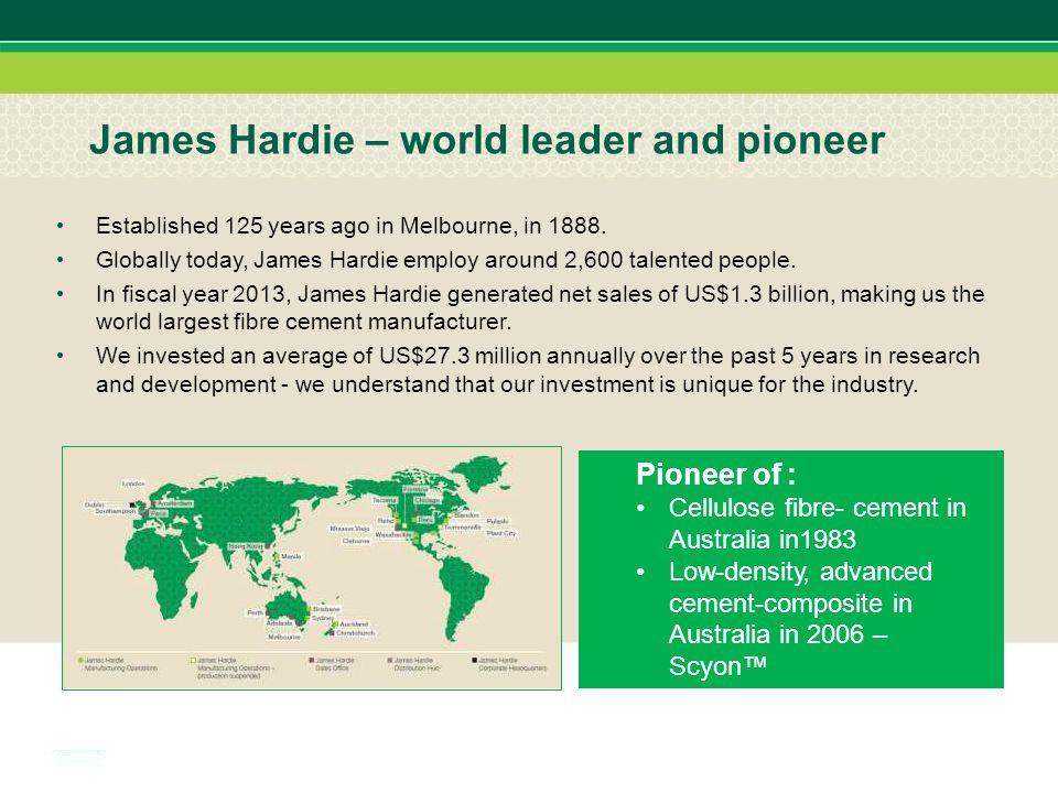 James Hardie – world leader and pioneer