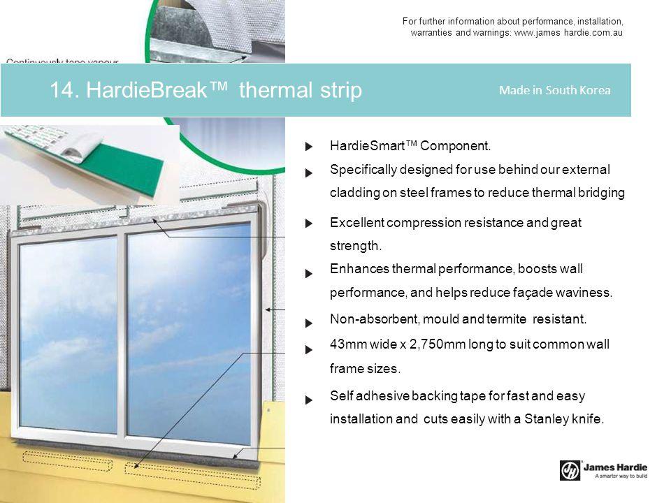 14. HardieBreak™ thermal strip