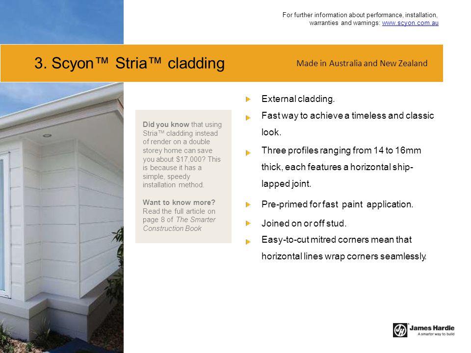 3. Scyon™ Stria™ cladding