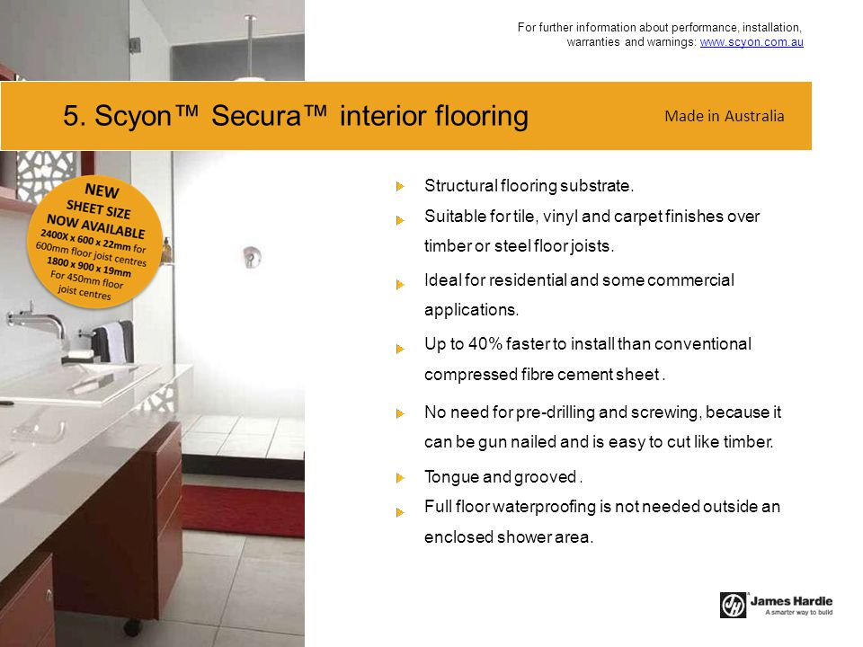 5. Scyon™ Secura™ interior flooring