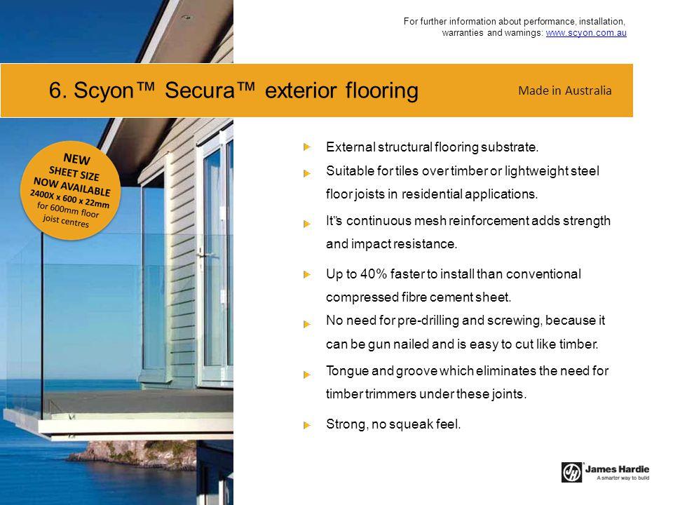 6. Scyon™ Secura™ exterior flooring
