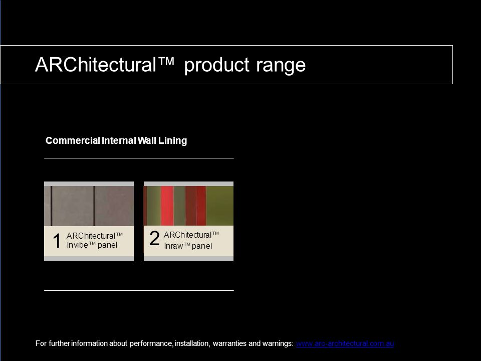 ARChitectural™ product range
