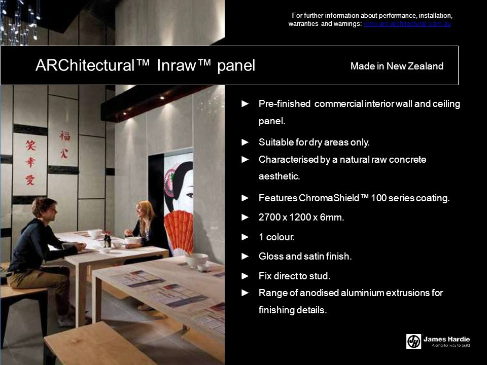 ARChitectural™ Inraw™ panel
