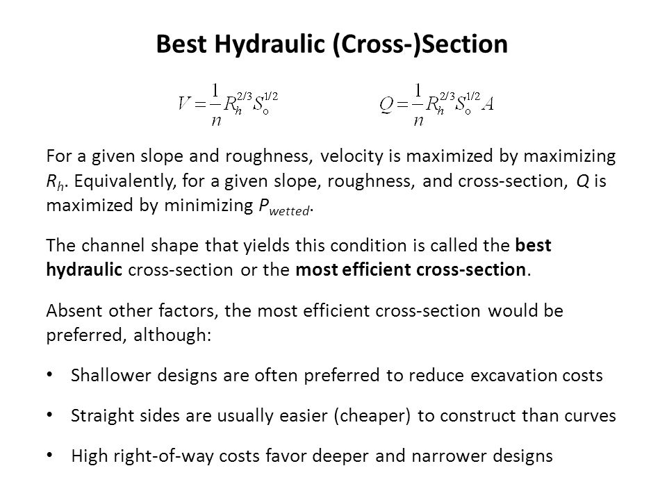 Best Hydraulic (Cross-)Section