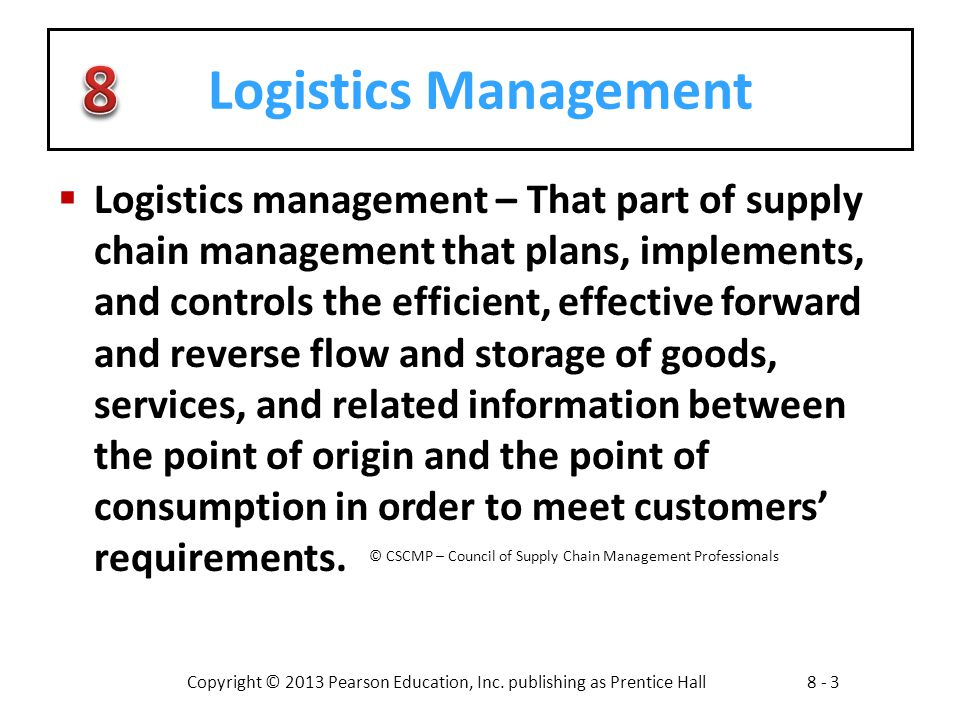effective management of the logistics essay Start studying supply chain final essay learn paramount to effective management of the in a white paper published by the council of logistics management.