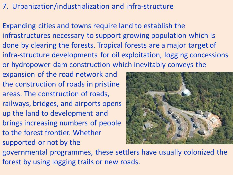 7. Urbanization/industrialization and infra-structure