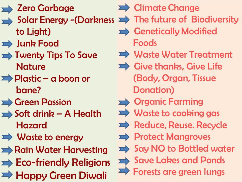 Eco-friendly Religions Happy Green Diwali