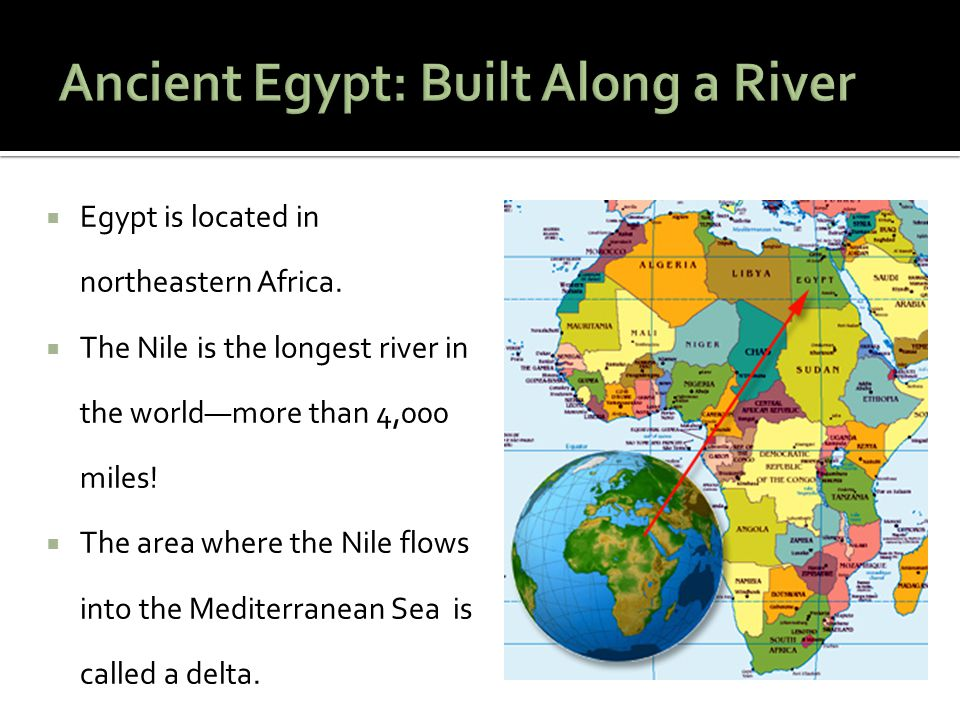 Ancient Egypt: Built Along a River