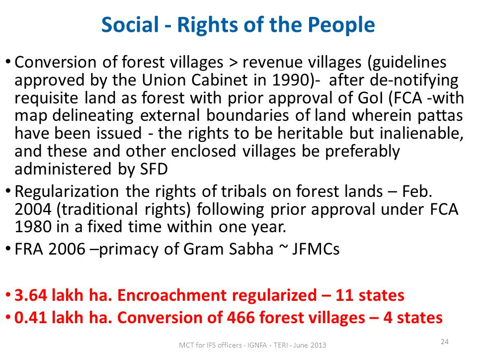 Social - Rights of the People