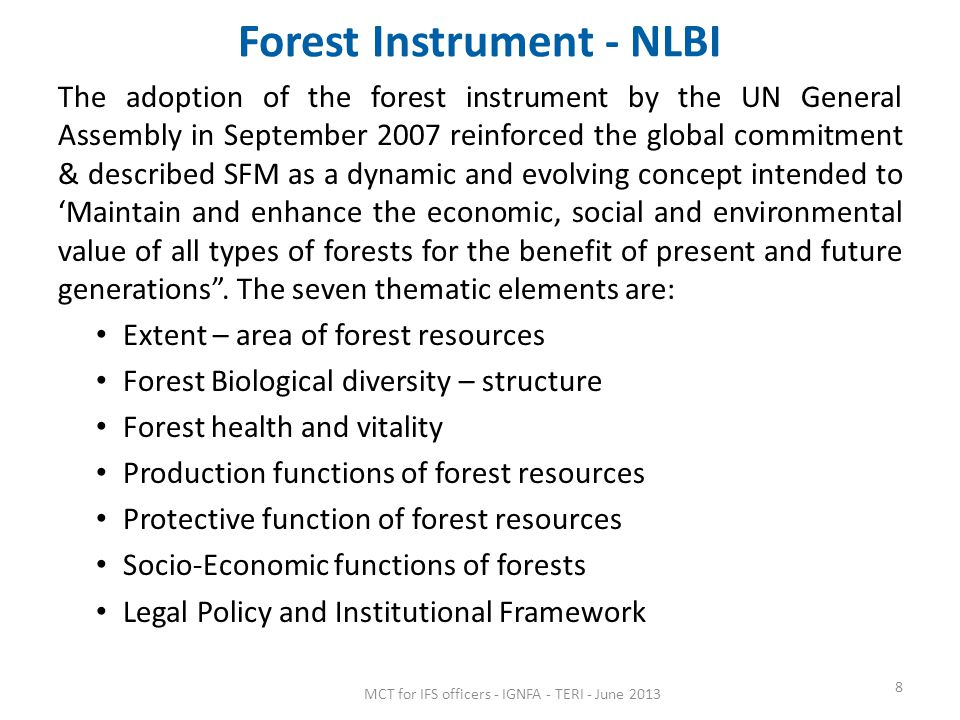 Forest Instrument - NLBI