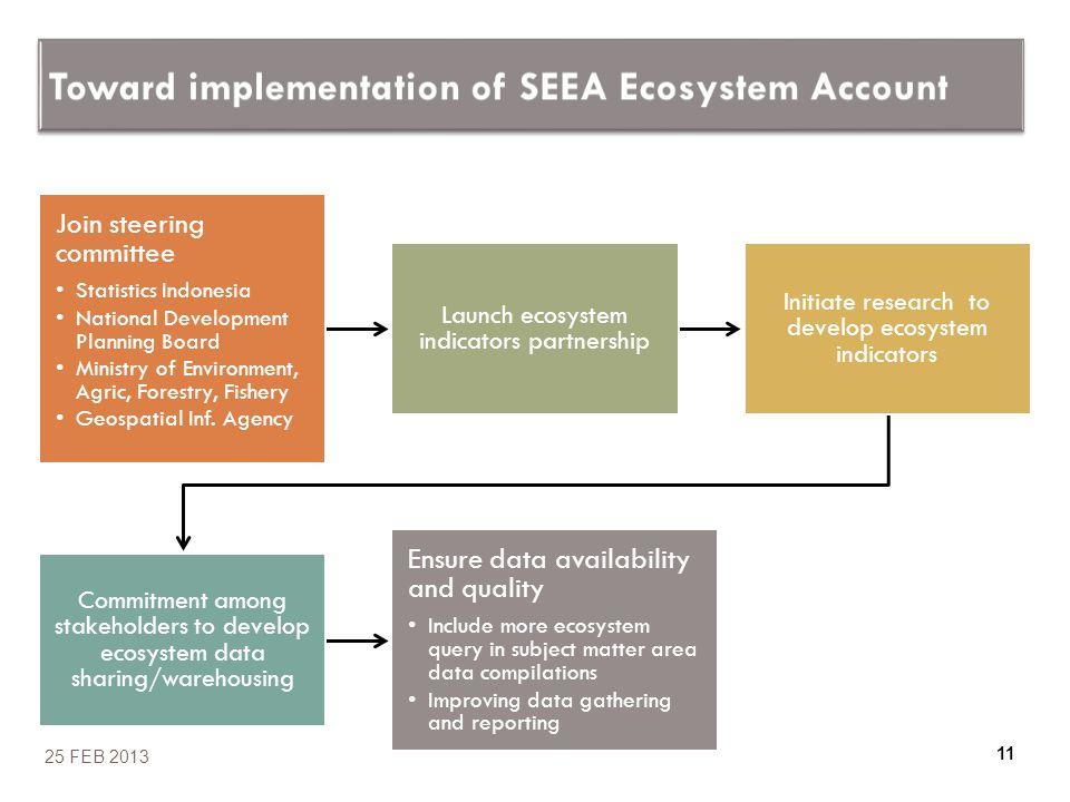 Toward implementation of SEEA Ecosystem Account